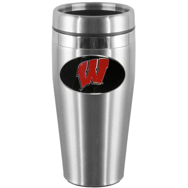Wisconsin Badgers Steel Travel Mug