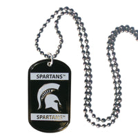Michigan St. Spartans Tag Necklace