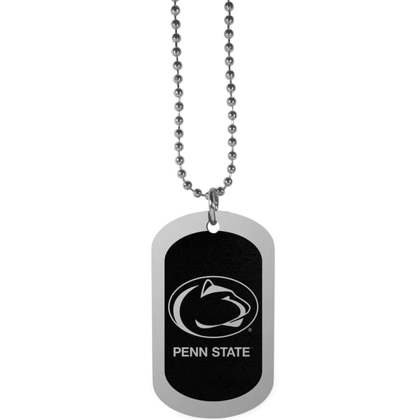 Penn St. Nittany Lions Chrome Tag Necklace