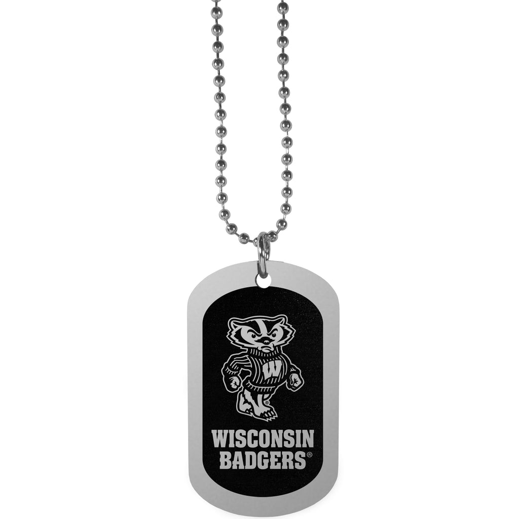 Wisconsin Badgers Chrome Tag Necklace