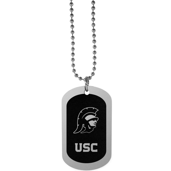 USC Trojans Chrome Tag Necklace