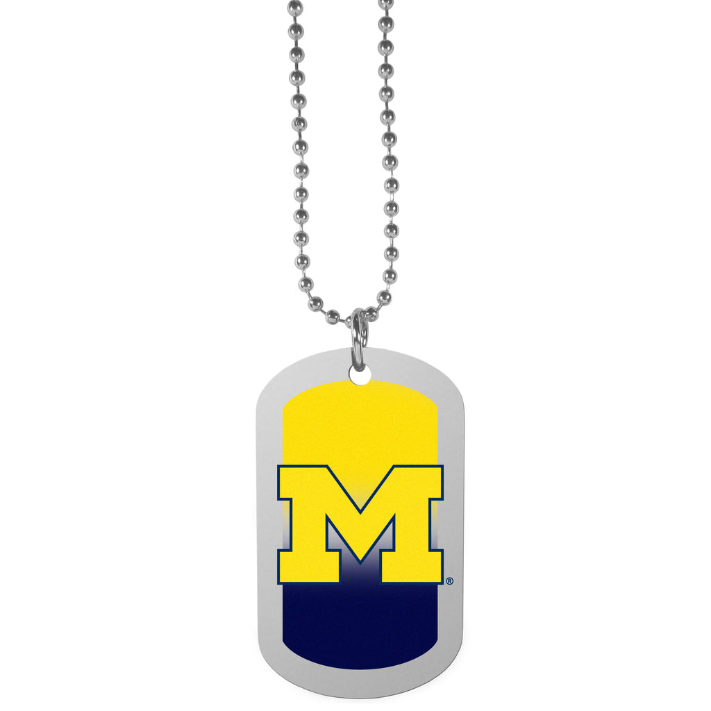 Michigan Wolverines Team Tag Necklace