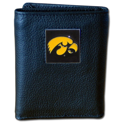 Iowa Hawkeyes Deluxe Leather Tri-fold Wallet
