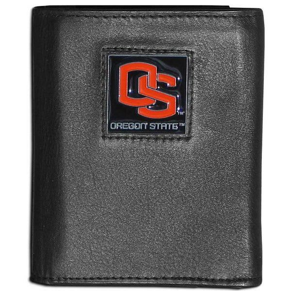 Oregon St. Beavers Leather Tri-fold Wallet