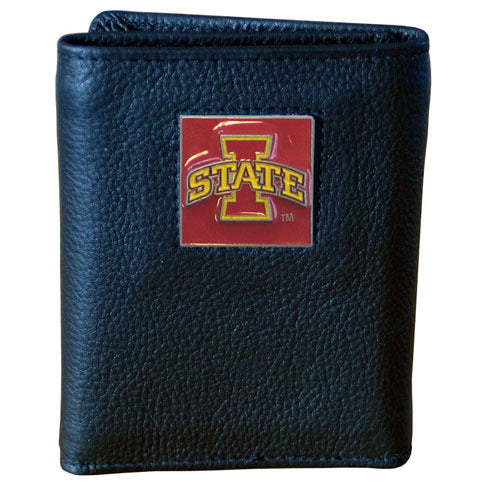 Iowa St. Cyclones Leather Tri-fold Wallet