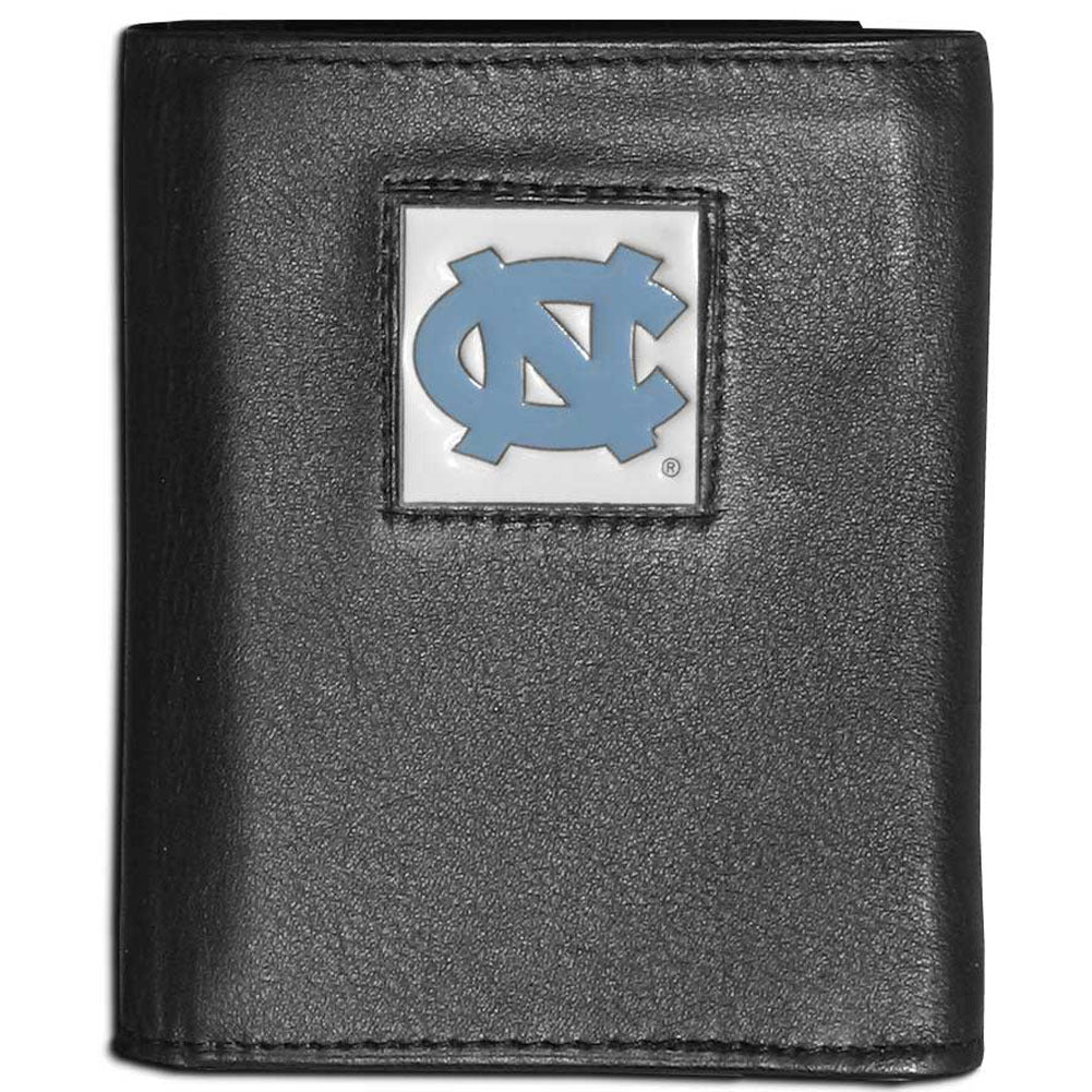 N. Carolina Tar Heels Leather Tri-fold Wallet
