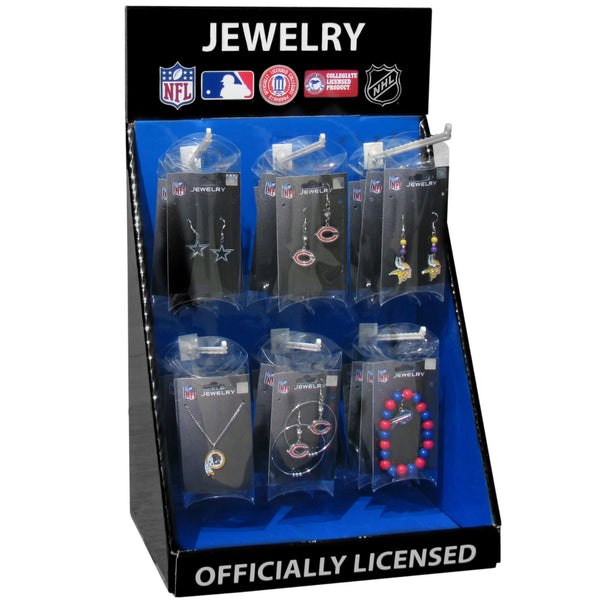 Cardboard Jewelry Counter Display with 6 Pegs