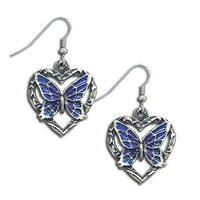 Dangle Earrings - Butterfly Heart