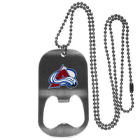 Colorado Avalanche? Bottle Opener Tag Necklace