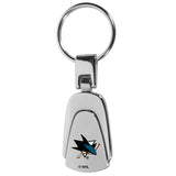 San Jose Sharks? Steel Teardop Key Chain