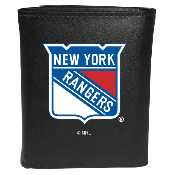 New York Rangers? Leather Tri-fold Wallet, Large Logo