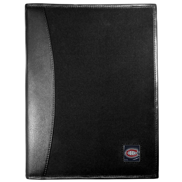 Montreal Canadiens? Leather and Canvas Padfolio
