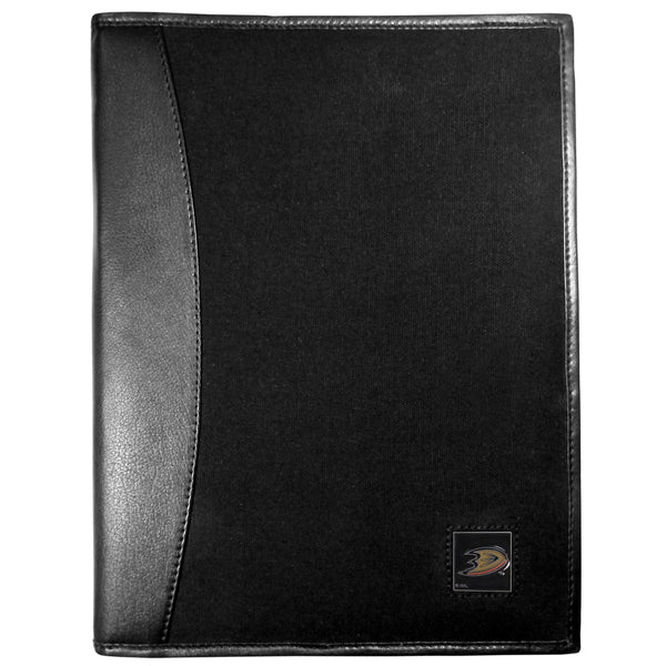 Anaheim Ducks? Leather and Canvas Padfolio
