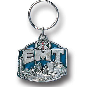EMT Metal Key Chain with Enameled Details