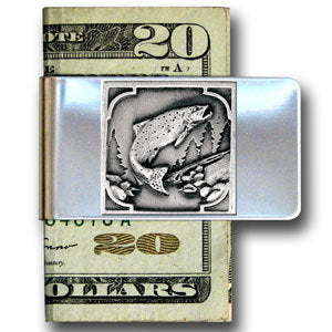 Fish Large Steel Money Clip