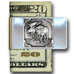 Moose Large Steel Money Clip