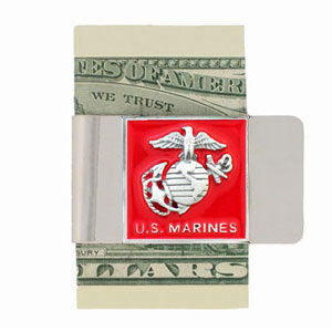 Marines Large Steel Money Clip