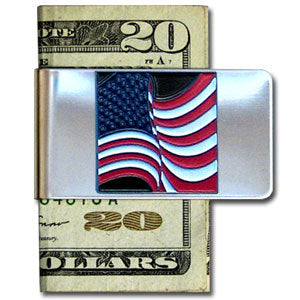 American Flag Large Steel Money Clip