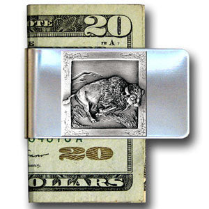 Buffalo Large Steel Money Clip