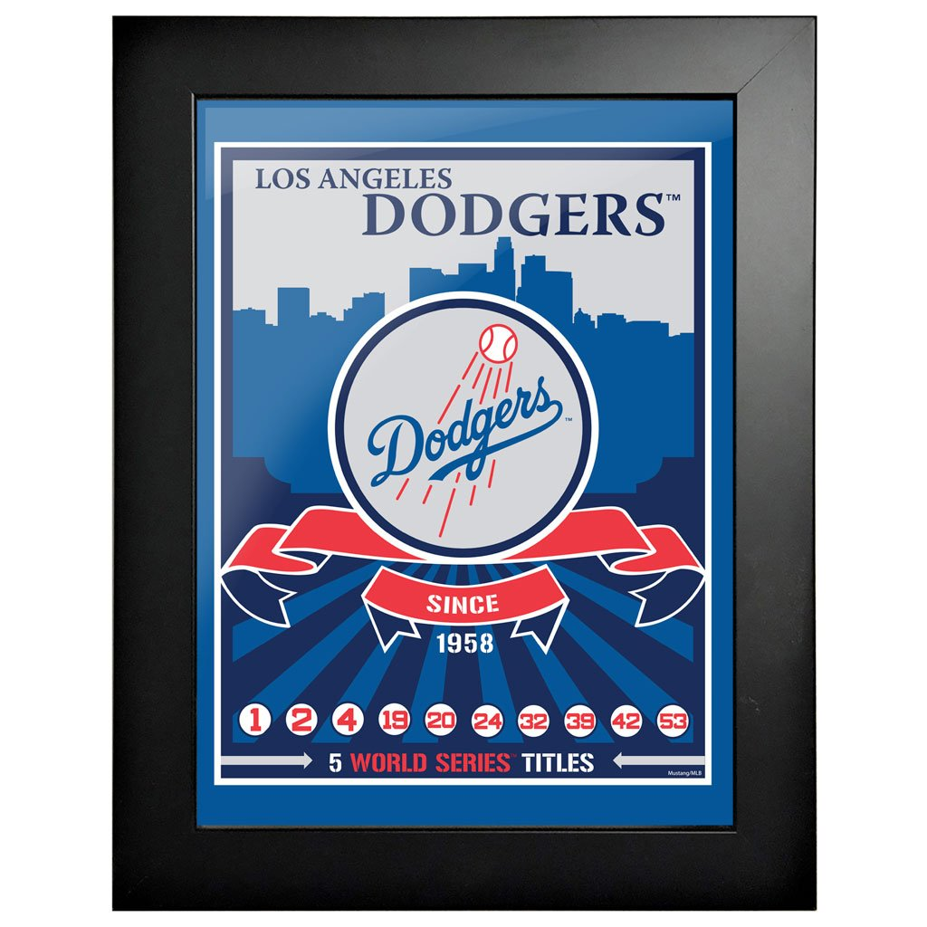 Los Angeles Dodgers 12x16 Wins Collection Framed Artwork