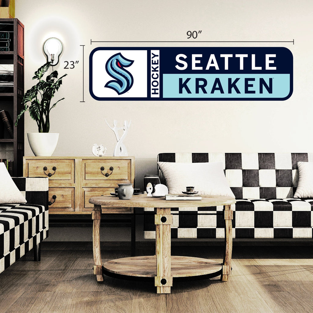 Seattle Kraken 90x23 Team Repositional Wall Decal Design 56