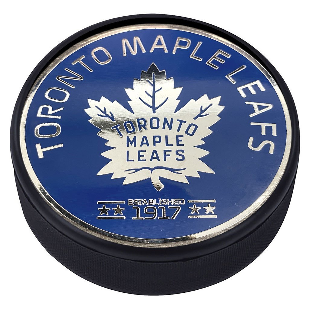 Toronto Maple Leafs Silver Plated Medallion Puck – Est. 1917