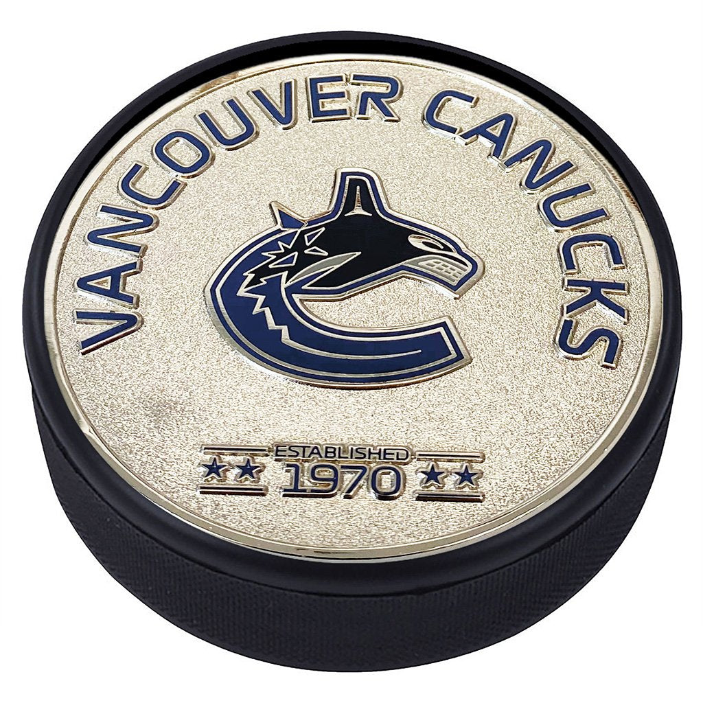 Medallion Puck - Vancouver Canucks Silver Established