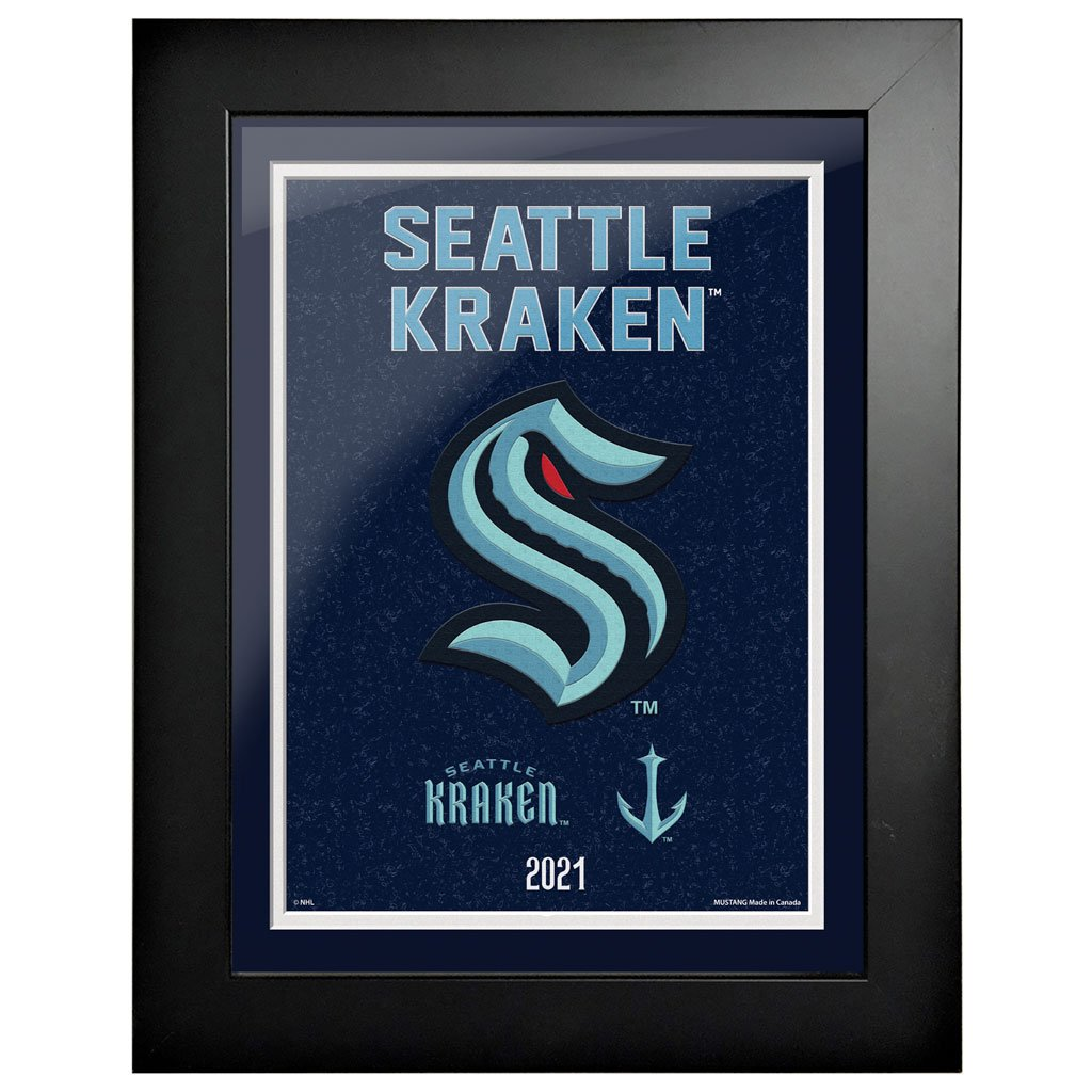 Seattle Kraken 12x16 Tradition Framed Artwork