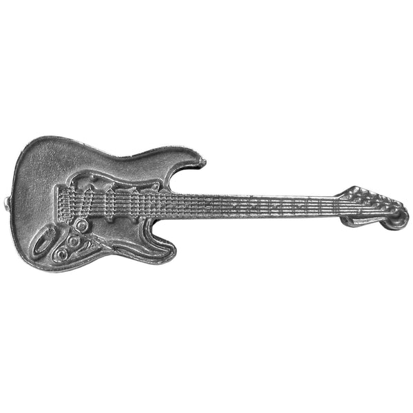 Electric Guitar Antiqued Lapel Pin