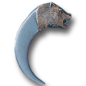 Claw with Bear Carving Lapel Pin