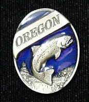 Oregon Trout Lapel Pin
