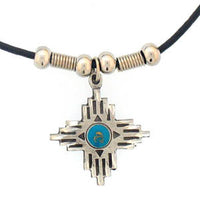 Southwestern Cross Adjustable Cord Necklace