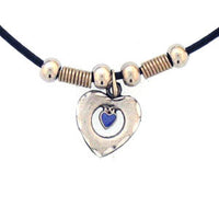 Heart in Heart Adjustable Cord Necklace