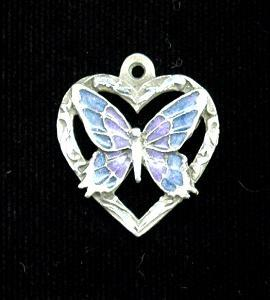 Butterfly in Heart Adjustable Cord Necklace