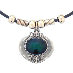 Emerald Stone Adjustable Cord Necklace