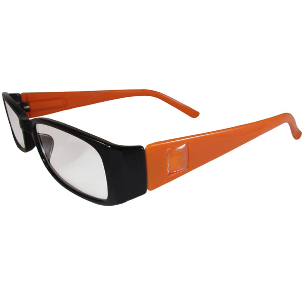 Black and Orange Reading Glasses Power +2.50, 3 pack