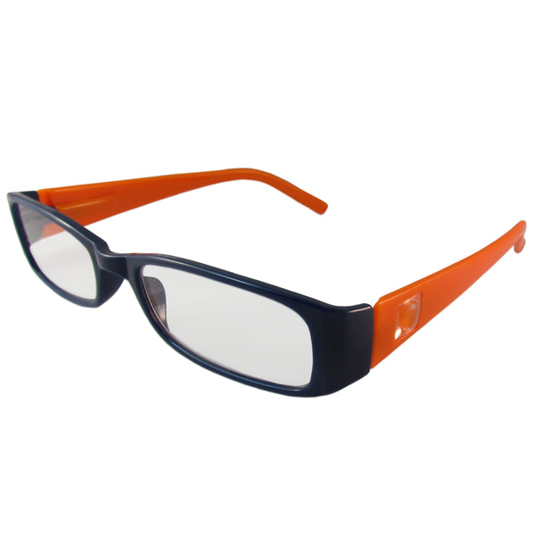 Dark Blue and Orange Reading Glasses Power +2.25, 3 pack