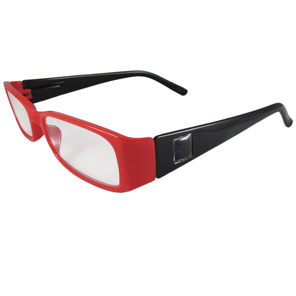 Red and Black Reading Glasses Power +1.75, 3 pack