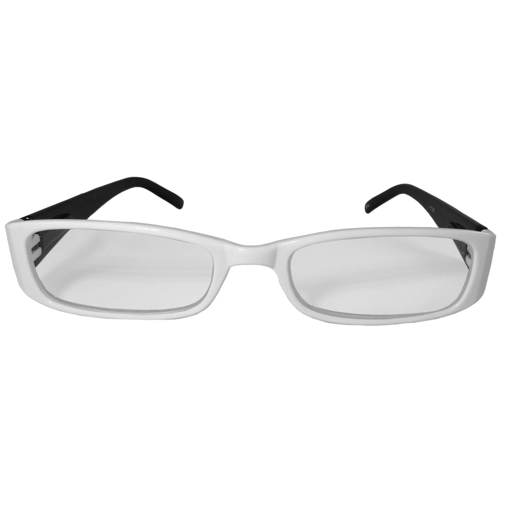 White and Black Reading Glasses Power +2.50, 3 pack