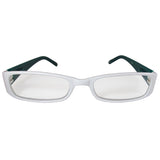 White and Teal Reading Glasses Power +2.00, 3 pack