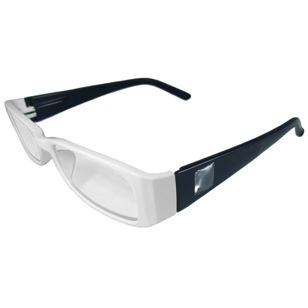 White and Dark Blue Reading Glasses Power +1.25, 3 pack