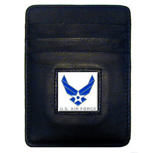 Armed Forces Leather Money Clip/Cardholder - Air Force