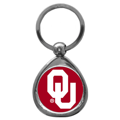 Oklahoma Sooners Chrome Key Chain