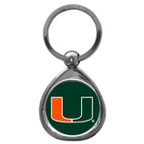 Miami Hurricanes Chrome Key Chain