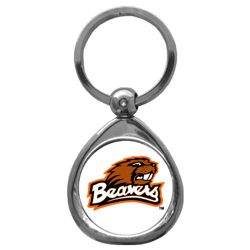Oregon St. Beavers Chrome Key Chain