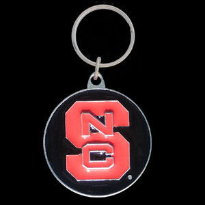 N. Carolina St. Wolfpack Carved Metal Key Chain