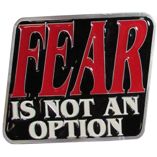 Fear is Not an Option Hitch Cover