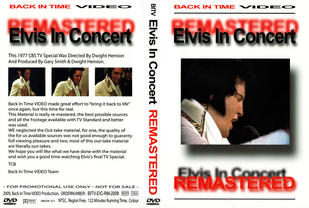 Elvis - Live In Concert - Remastered DVD