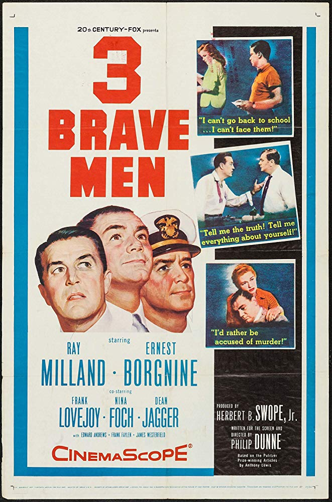 3 Brave Men (1956) - Ray Milland  DVD