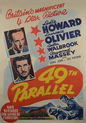 49th Parallel (1941) - Laurence Olivier  DVD